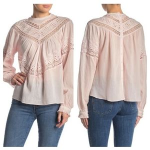 NWT Free People Abigail Victorian Top  Size Large